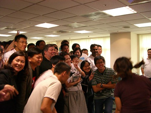 Everybody wants to take a photo with Woz