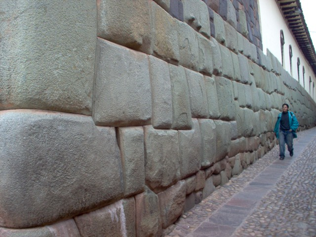 The famous incan stone wall of Cuzco.