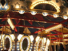 Close Up Nightshot - Carousel, Minneapolis, Minnesota, August 2007, photo © 2008 by QuoinMonkey. All rights reserved.