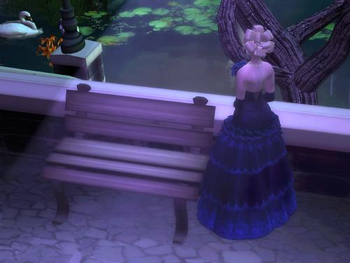 Flora - Blue Dahlia I