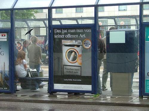 pub allemande pour des cigarettes
