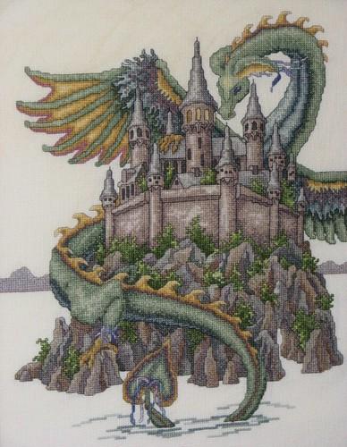 Dragon and Castle Cross Stitch