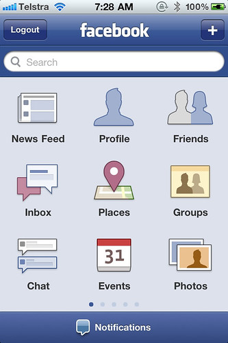New facebook update