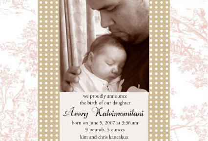 Avery's Birth Announcement