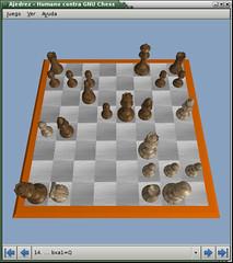 Pantallazo-Ajedrez - Humano contra GNU Chess 3D