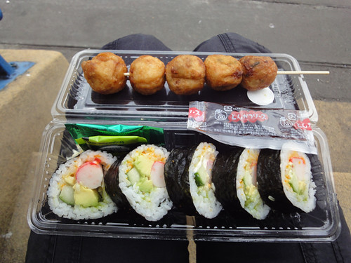 For The Love Of Seafood: Takoyaki and California roll