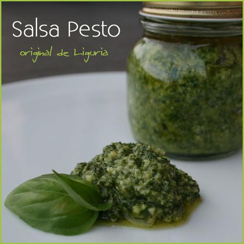 Salsa Pesto - receta original Ligure by amiloquemegustaescocinar.