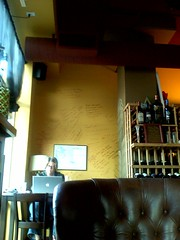 writing at the wine bar