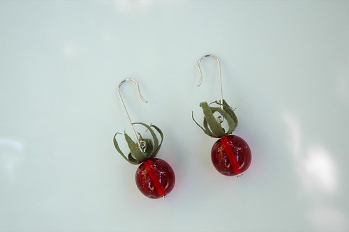 cherry tomato earrings