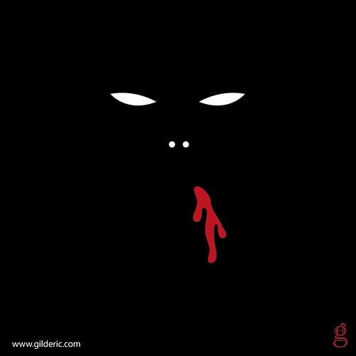 Minimal Bloody Monster (Black) - T-shirt design par Gilderic