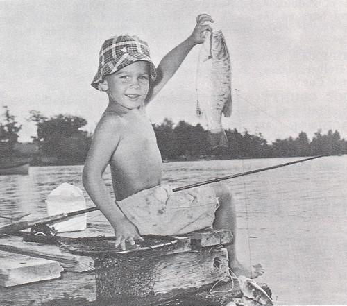 Boy fishing Michigan CUTE