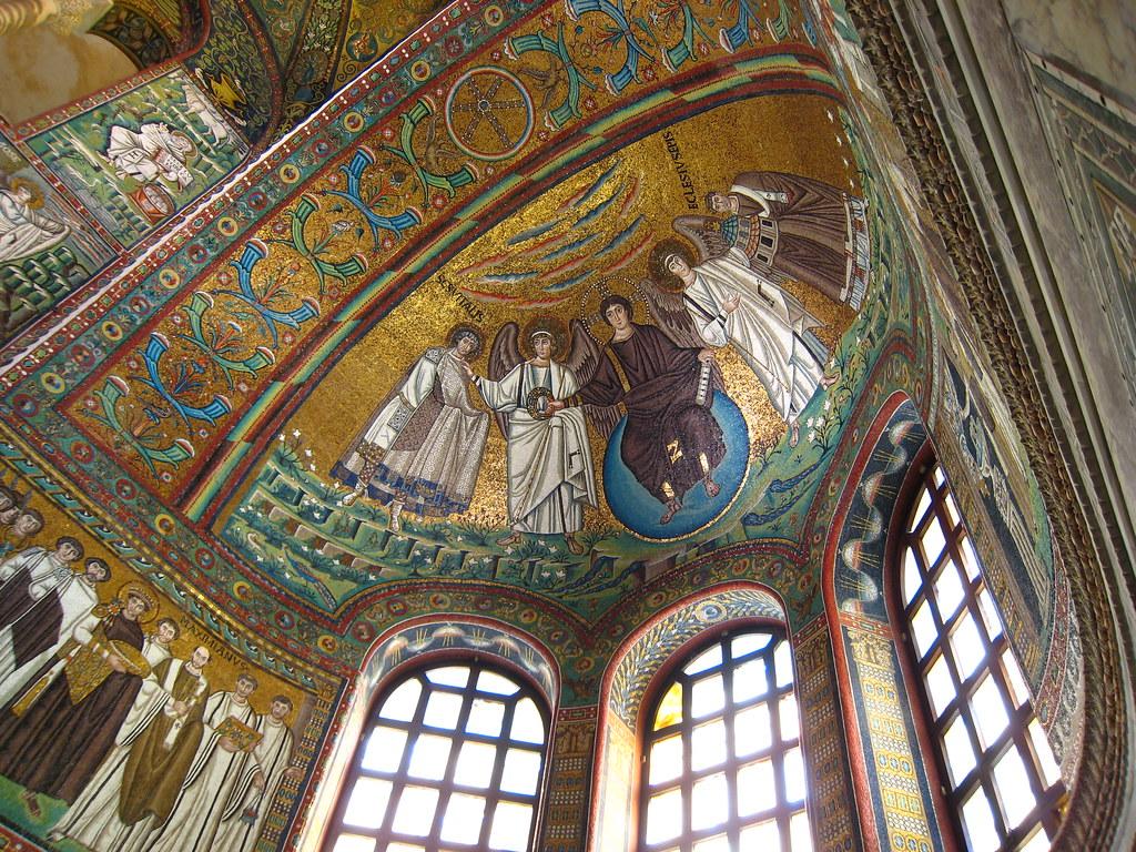 uno de los mosaicos de Ravenna