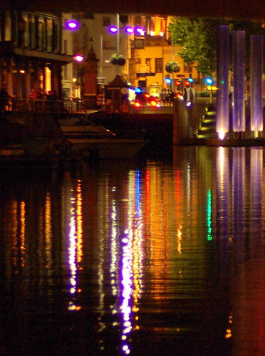 Bristol waterfront at night