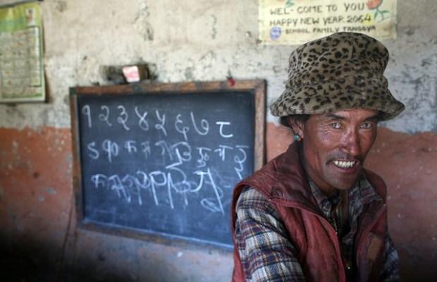 School in lost Tanggya - Upper Mustang