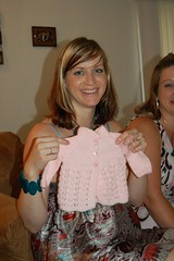 Baby Shower: Hand-knit Cardigan