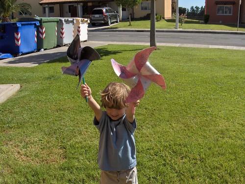 We made pinwheels