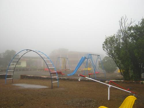 Deserted playground at Flamingo Resort, Malshej Ghat