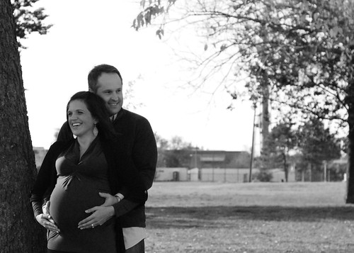 Mike & Traci Maternity 177 2 B&W