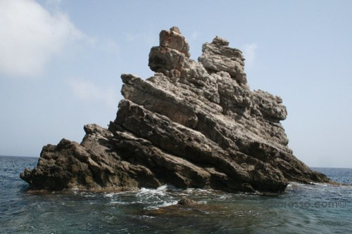 Rock formations at Marettimo