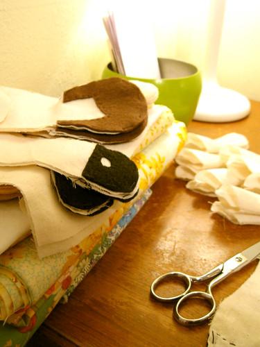 Sewing (in progress).