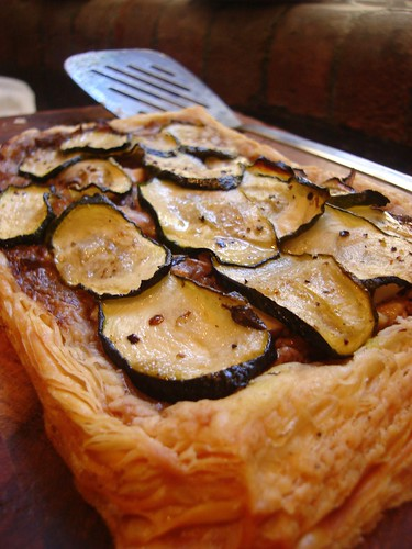Wild Mushroom and Courgette Tart