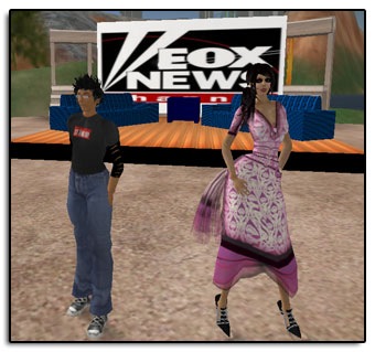 Kim and I doing our roleplaying session for NMC