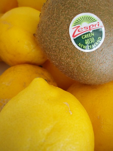 Lemons and a Kiwifruit