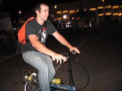 Tim Grahl rides a Dahon