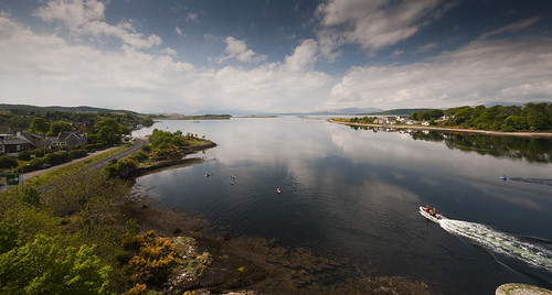 The view from Connel Bridge out to the islands