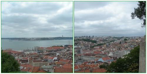 Utsikt mot Tejo og Lisboa frå Castello de Sao Jorge
