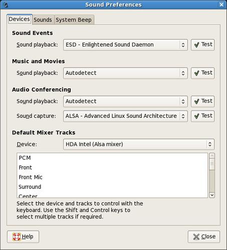 Sound Preferences