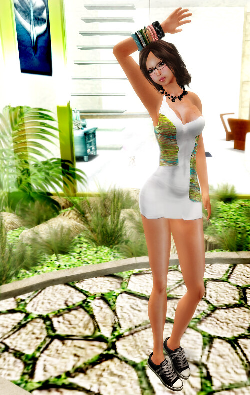 ::HH:: Hucci Miami Dress - White