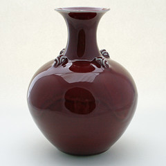 Tony Barnes. Copper red vase, 2010