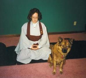 Reggie meditates in Hillsboro, NH