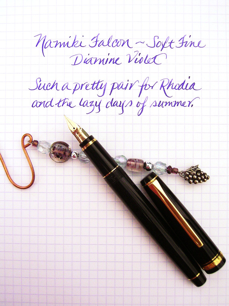 Namiki Falcon with Diamine Violet