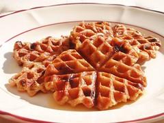 Oatmeal-Banana-Raisin Waffles!