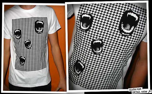 YOUNG LOVERS vampire-houndstooth-tshirt