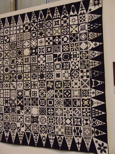 Black and White Dear Jane at Birmingham Festival of Quilts
