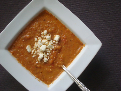 Roasted Eggplant and Red Pepper Soup