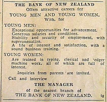 BNZ Situations Vacant 20 December 1955