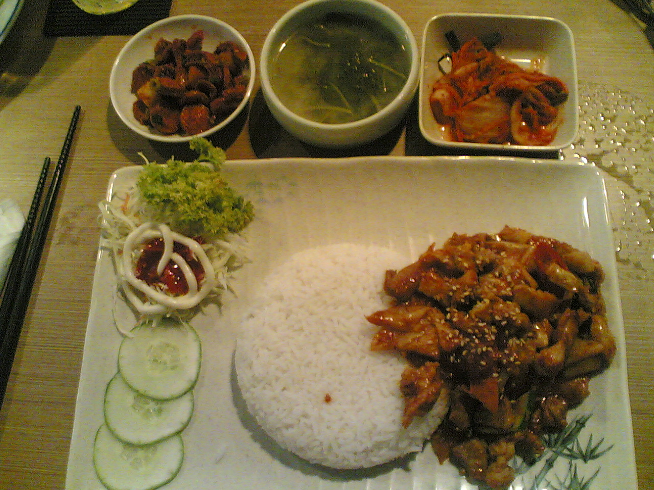 Amazing and delicious rice with sweet and sour pork