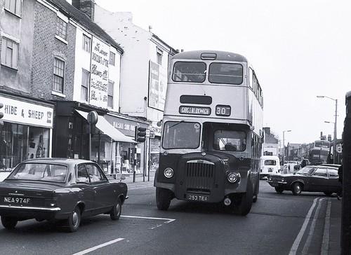 Stafford Street, Walsall 1975 + ex West Bromwich bus