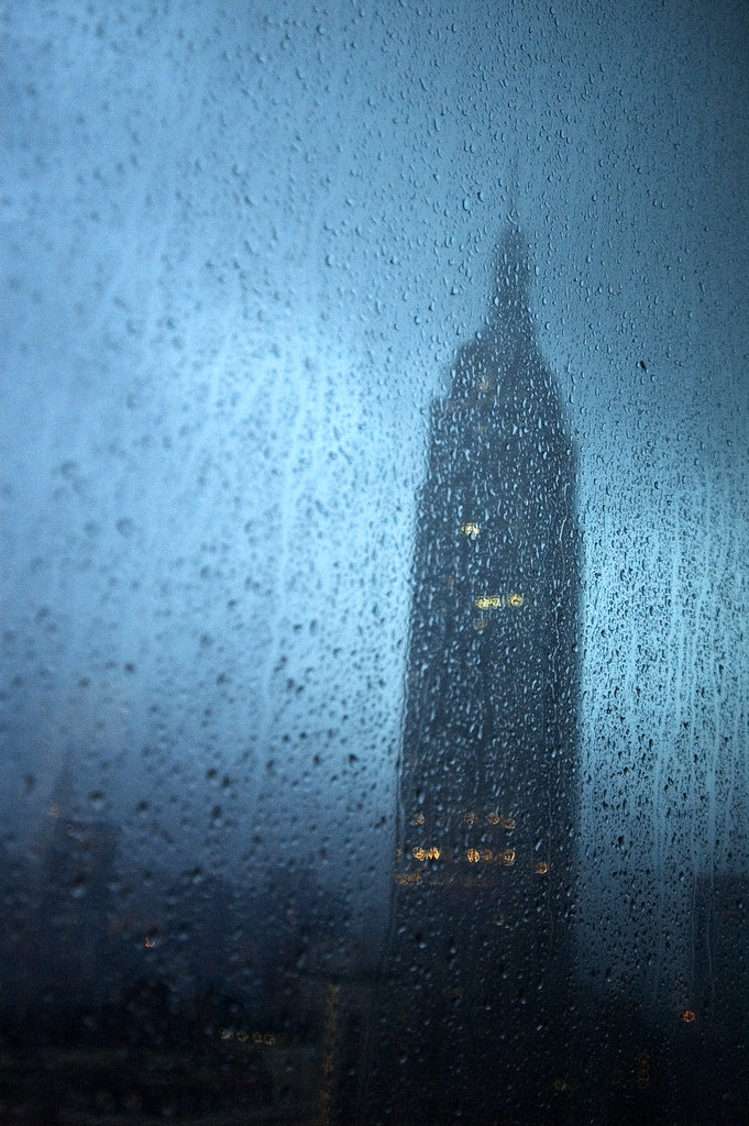 Rainy Empire State Building by Surtees