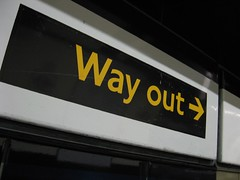 Way Out sign at Warren Street station