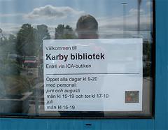 Karby ICA och bibliotek i ett
