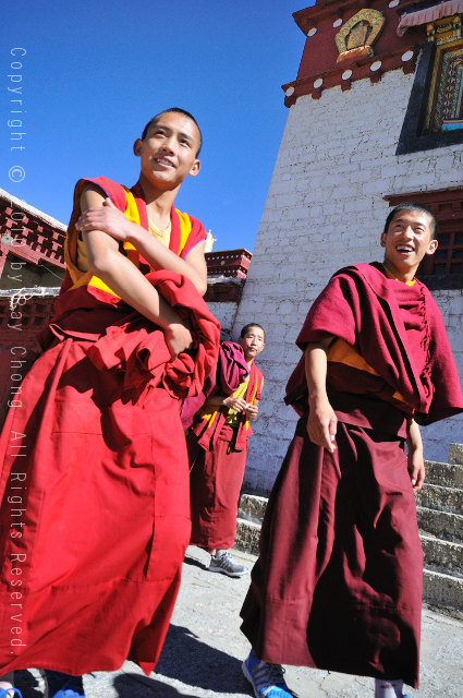 Tibetan youth at Ganden Thubchen Choekhorling Monastery, Litang, Sichuan, China.