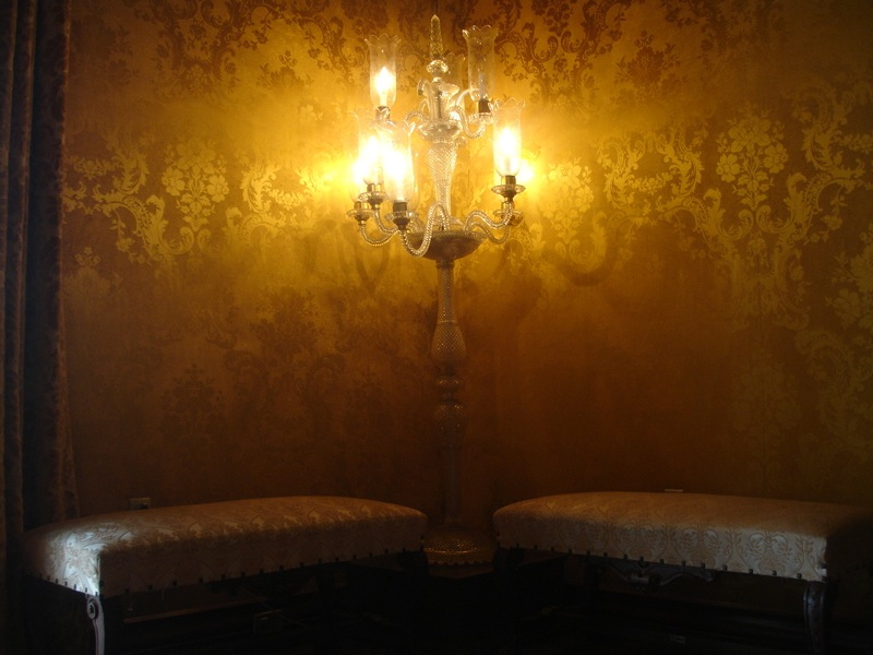 Lámpara en Salón Amarillo