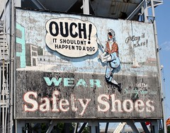 Wear safety shoes