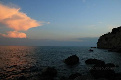 Sunset off Gargano Italy