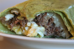 Slow-Cooked Steak and Egg Burrito